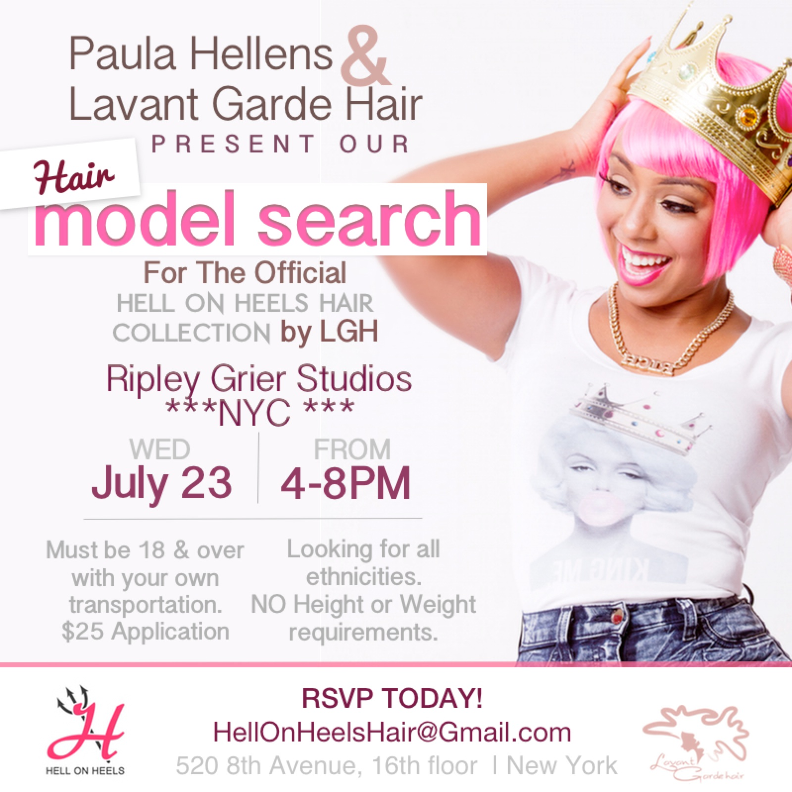 Hell on Heels Hair Collection by LGH Hair Model Casting ...
